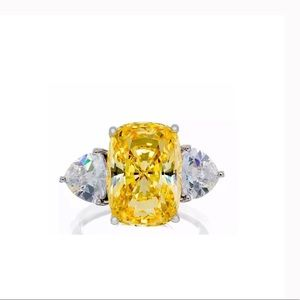 9CT Radiant Cut Canary Ring